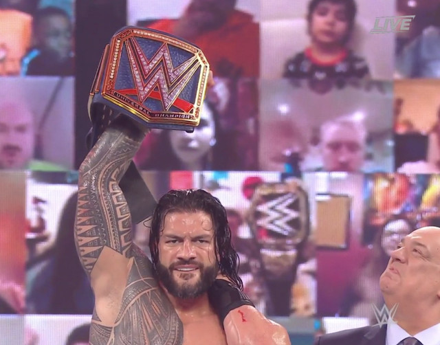 Campeon Universal Roman Reigns derroto a Kevin Owens