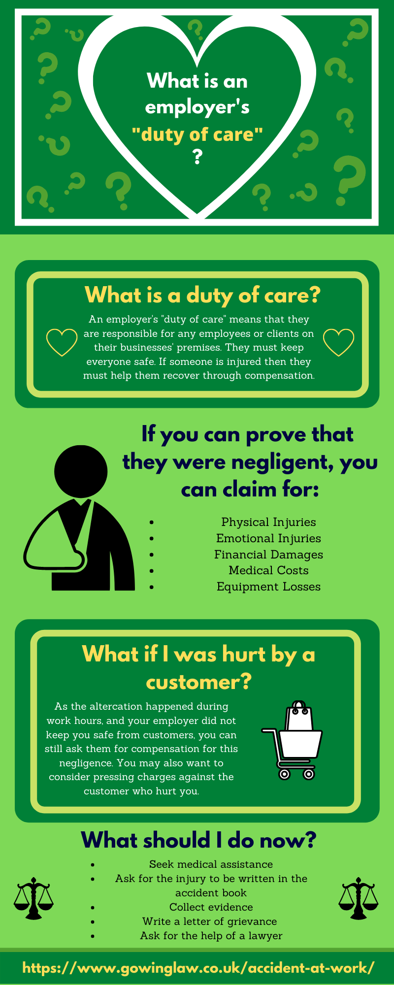 employer duty of care infographic