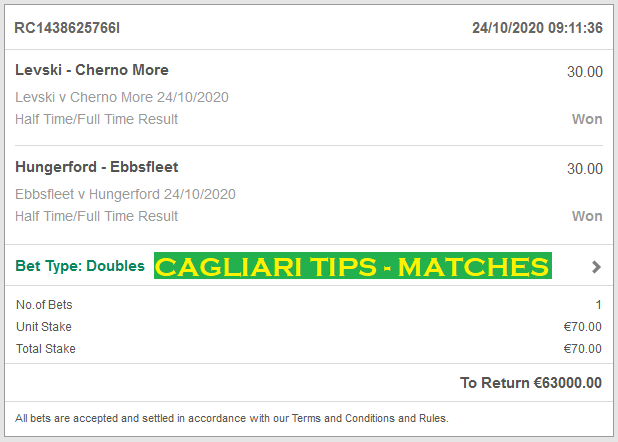 CAGLIAR TIPS - MATCHES