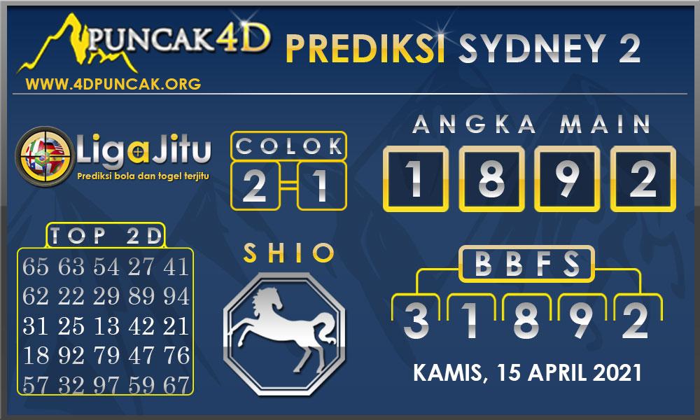 PREDIKSI TOGEL SYDNEY2 PUNCAK4D 15 APRIL 2021