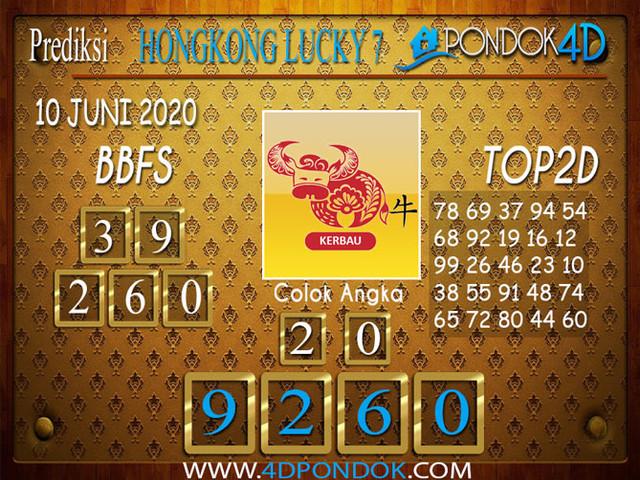 Prediksi Togel HONGKONG LUCKY 7 PONDOK4D 10 JUNI 2020