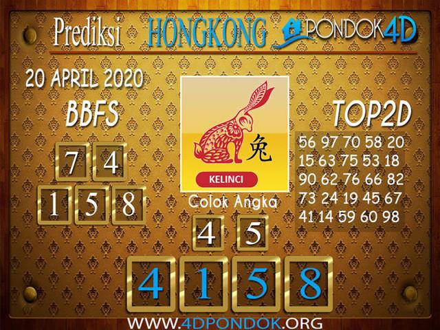 Prediksi Togel HONGKONG PONDOK4D 20 APRIL 2020