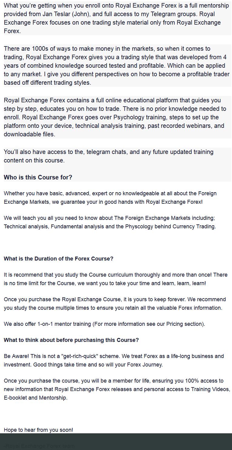 Royal Exchange Forex Missionforex.com