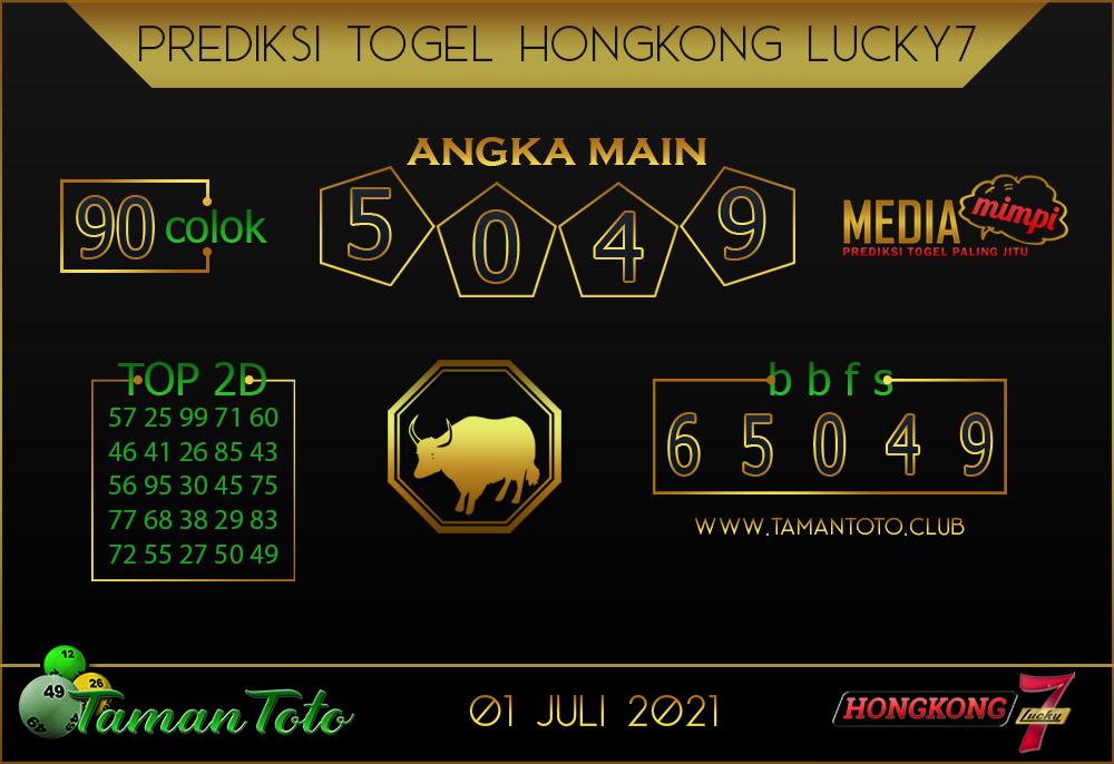 Prediksi Togel HONGKONG LUCKY 7 TAMAN TOTO 01 JULI 2021