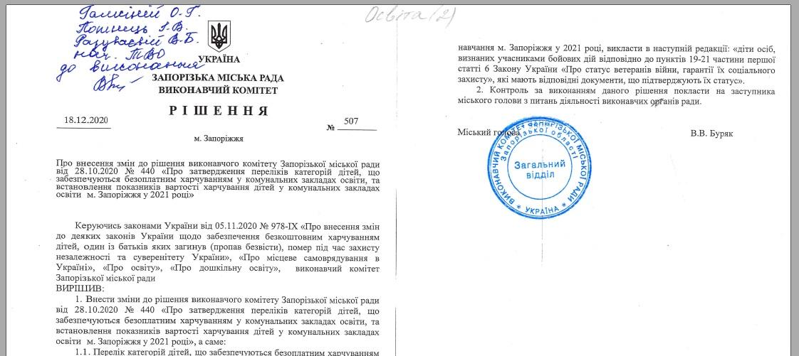 Нормативні документи (регламент, рішення) 507