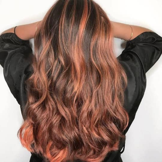 caramel red -hair-color
