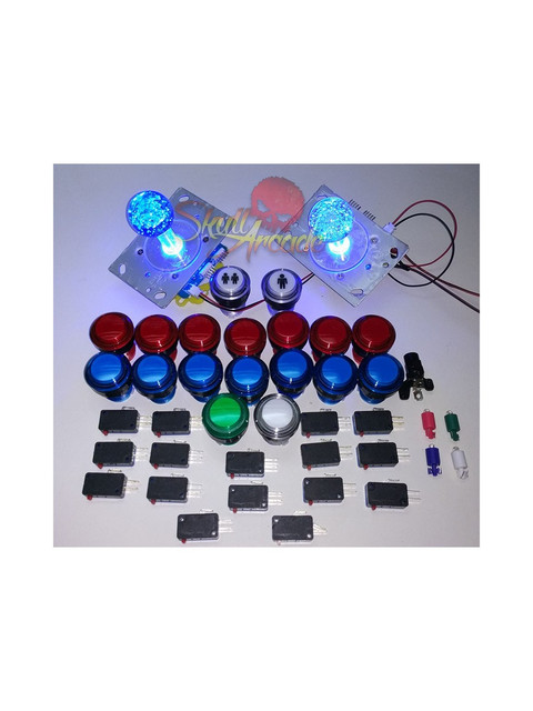 kit joystick y botones boton led joystick led arcade hdmi bartop recreativa
