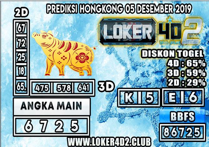 PREDIKSI TOGEL HONGKONG POOLS LOKER4D2 05 DESEMBER 2019