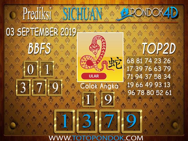 Prediksi Togel SICHUAN PONDOK4D 03 SEPTEMBER 2019