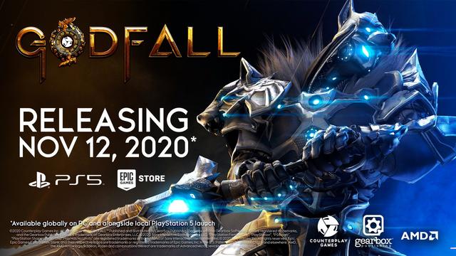 Gearbox宣佈《Godfall》將作為PS5主機的首發遊戲於11月12日推出,PC版也會在同一天上市。 Image