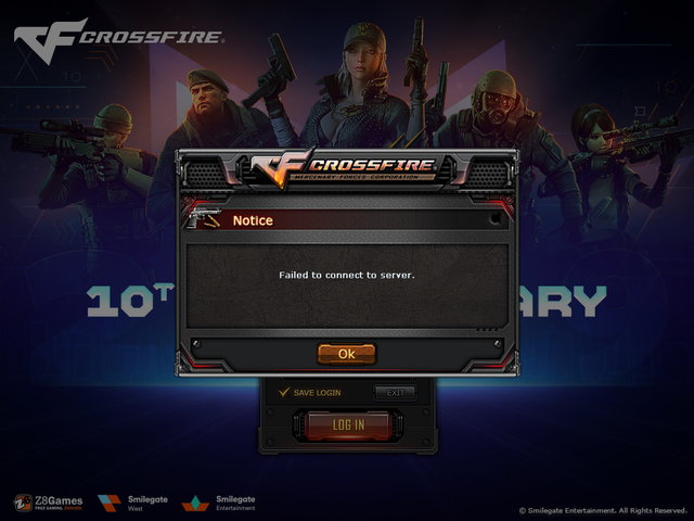 Crossfire Failed To Connect To Server Z8games