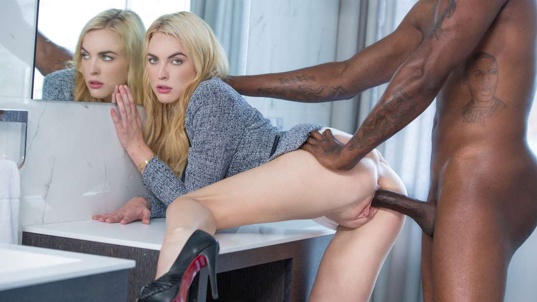 Keira Nicole, Flash Brown – Blonde Gets BBC At Interview – Blacked
