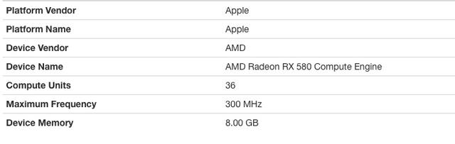 mac mini 2018 + Razer Core X + MSI Armour (MK1) 580rx