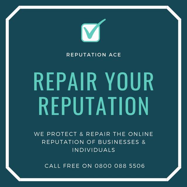 Repair My Reputation is a company that specialises in fixing your search results in Google, and repairing your reputation. Call FREE on 0800 088 5506 or visit our website https://www.reputationace.co.uk