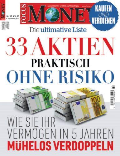 Cover: Focus Money Finanzmagazin No 37 vom 08  September 2021