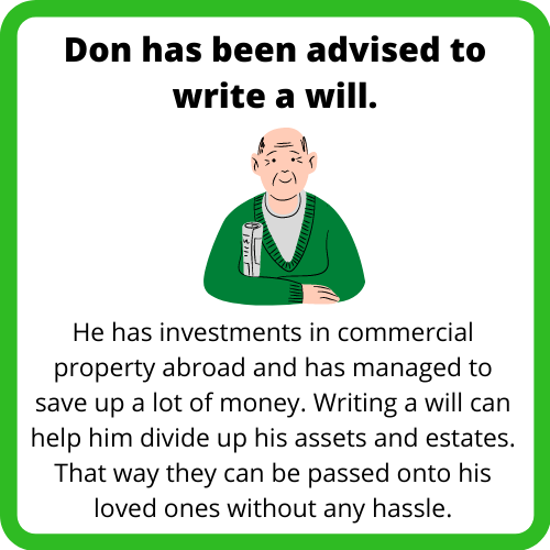 Case study about why to write a will