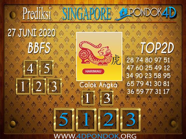 Prediksi Togel SINGAPORE PONDOK4D 27 JUNI 2020