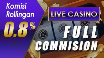 Bonus Live Casino 0.8%