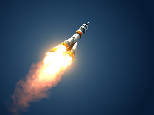 ракета в космосе фото