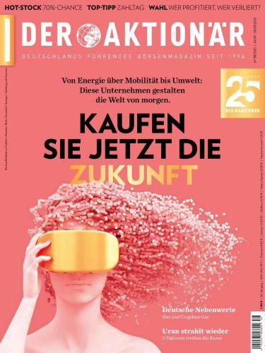 Cover: Der Aktionär Börsenmagazin No 39 vom 24  September 2021