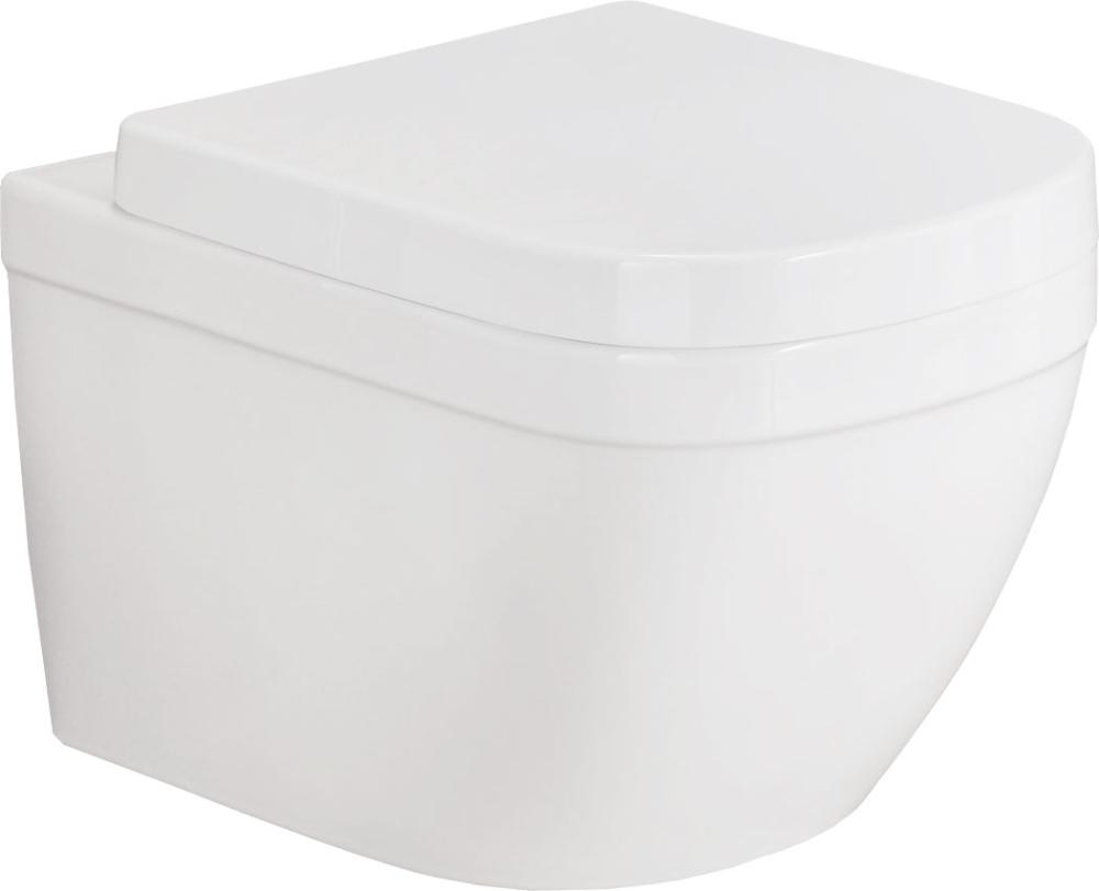 Унитаз подвесной Euro Ceramic+сиденье с м/л быстросъемное универ.
