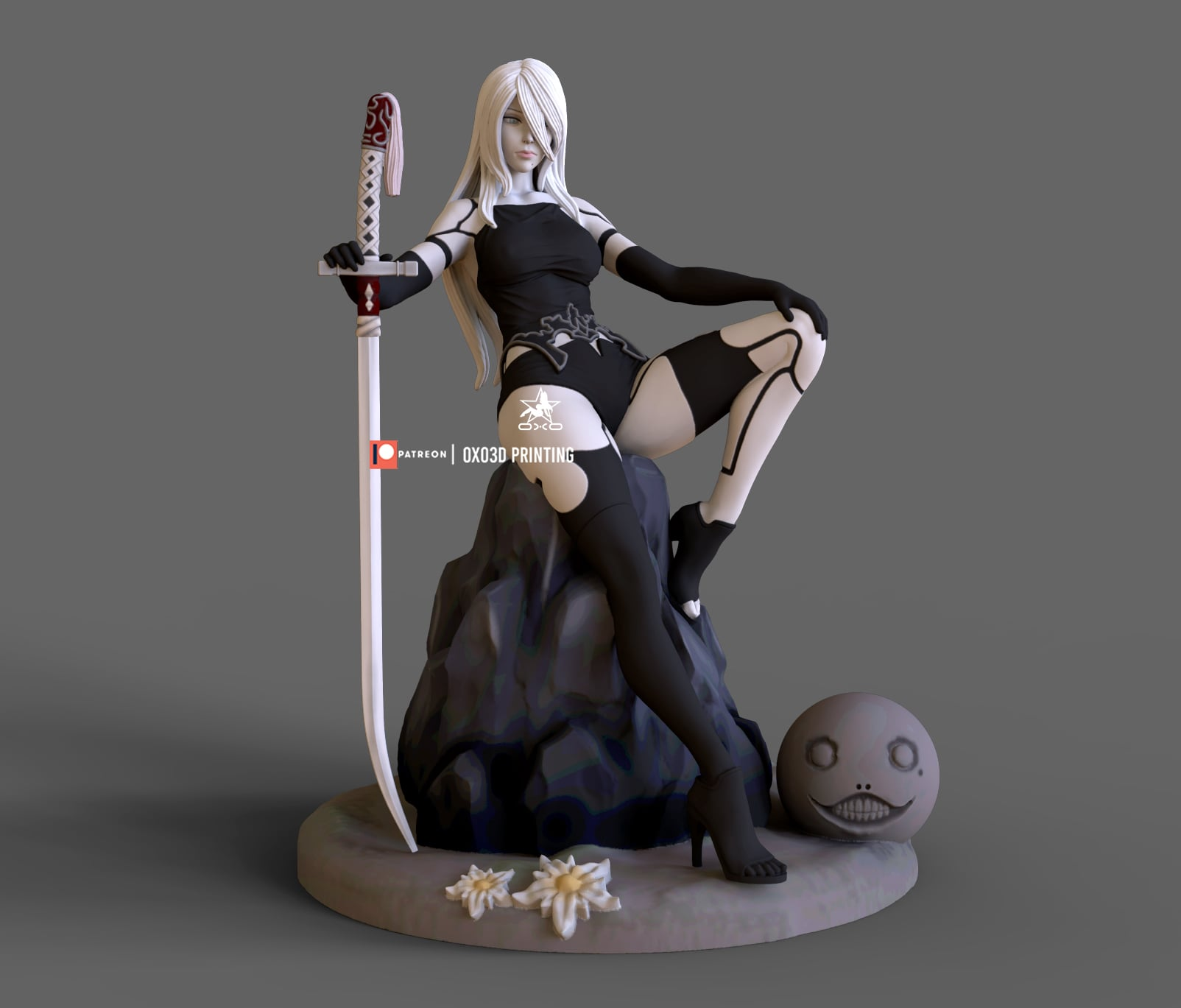 Nier Automata A2 3d print model from OXO3D Printing