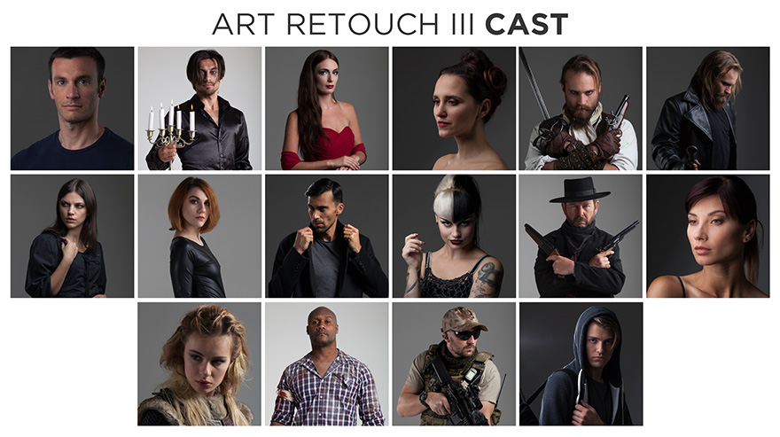 art retouch portraits volume 3 stock photo bundle cast members