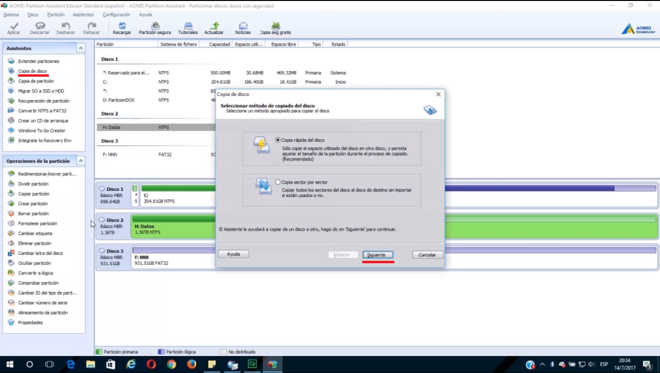 How to clone hard drive to SSD using AOMEI Partition Assistant.
