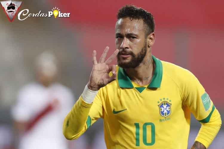 Cetak Tiga Gol ke Gawang Peru, Neymar Lewati Pencapaian Ronaldo