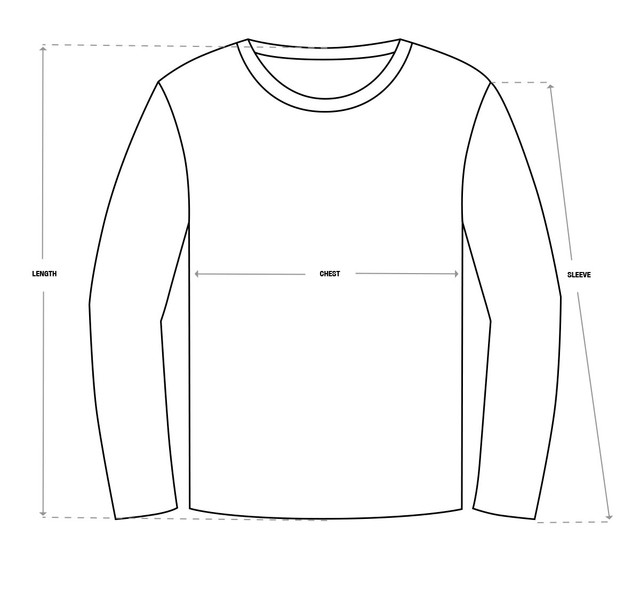 Long-sleeve-Sweatshirt-Size-Chart-Template