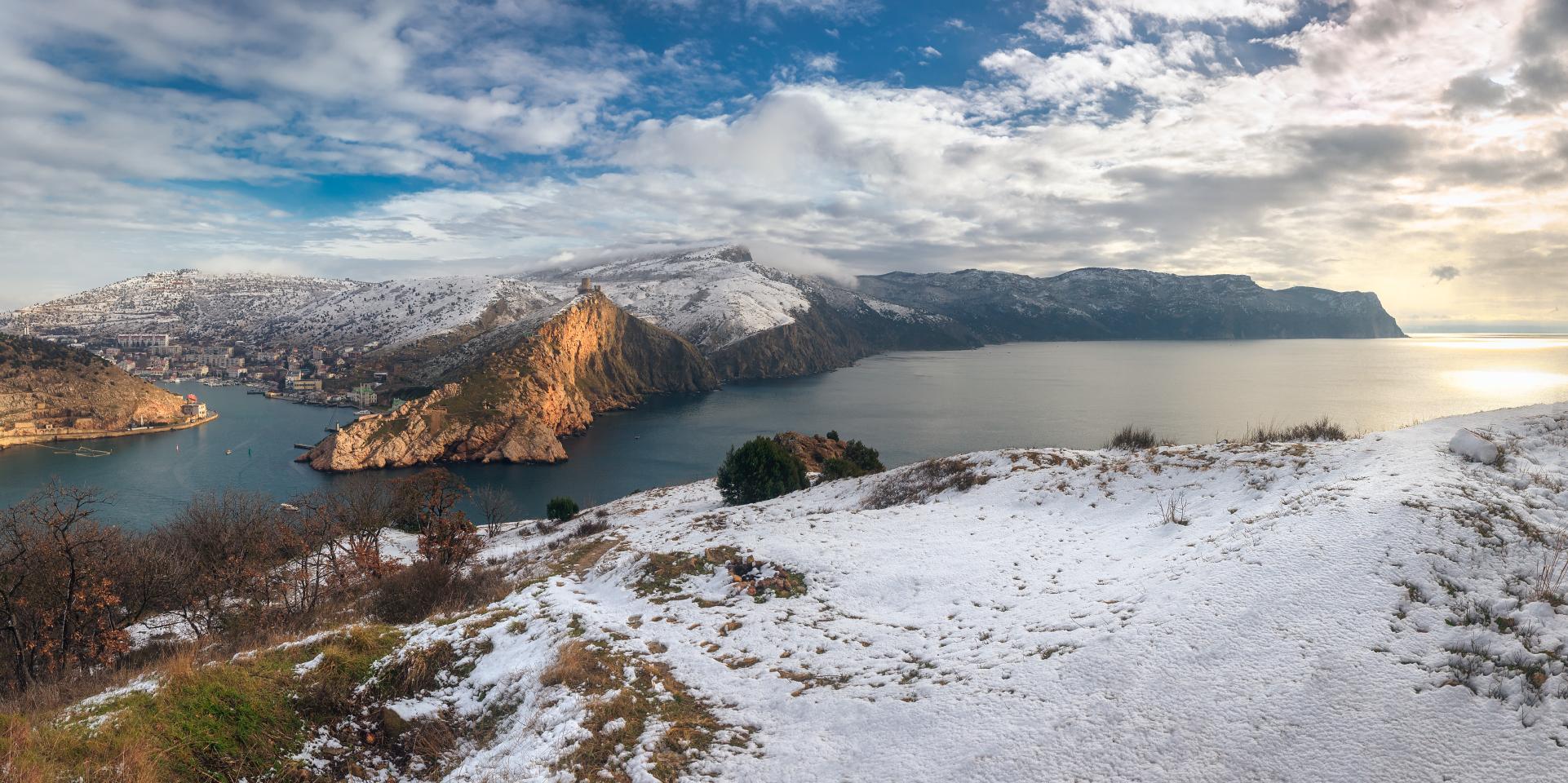 Балаклава зимой панорамное фото картинки