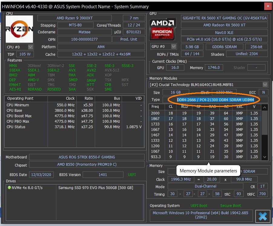 Kúpená RAM DD4 4000mhz sa tvári že je len 2660mhz