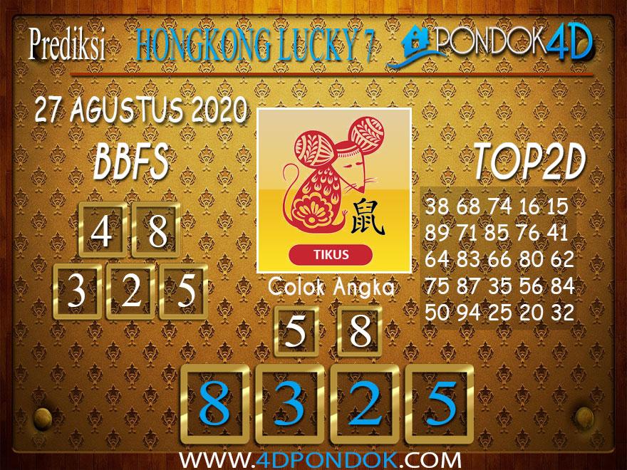 Prediksi Togel HONGKONG LUCKY 7 PONDOK4D 27 AGUSTUS 2020