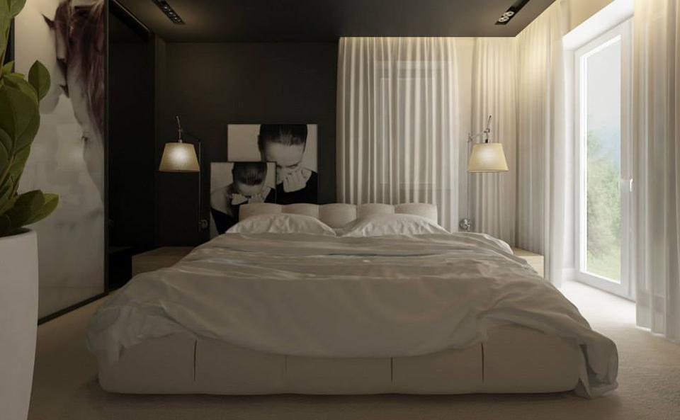 Das Bett nach individuellen Design gefertigt.