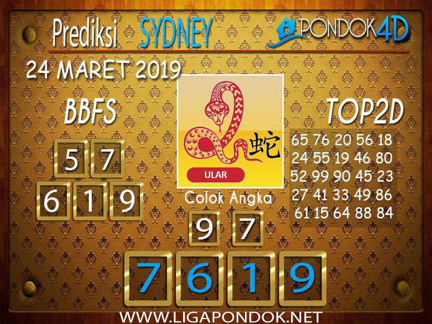 Prediksi Togel  SYDNEY  PONDOK4D 24 MARET 2019