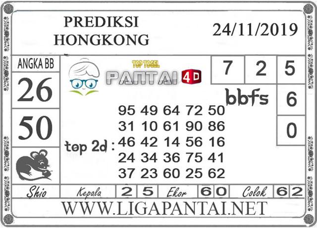 """PREDIKSI TOGEL """"HONGKONG"""" PANTAI4D 24 NOVEMBER 2019"""