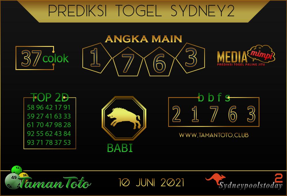 Prediksi Togel SYDNEY 2 TAMAN TOTO 10 JUNI 2021