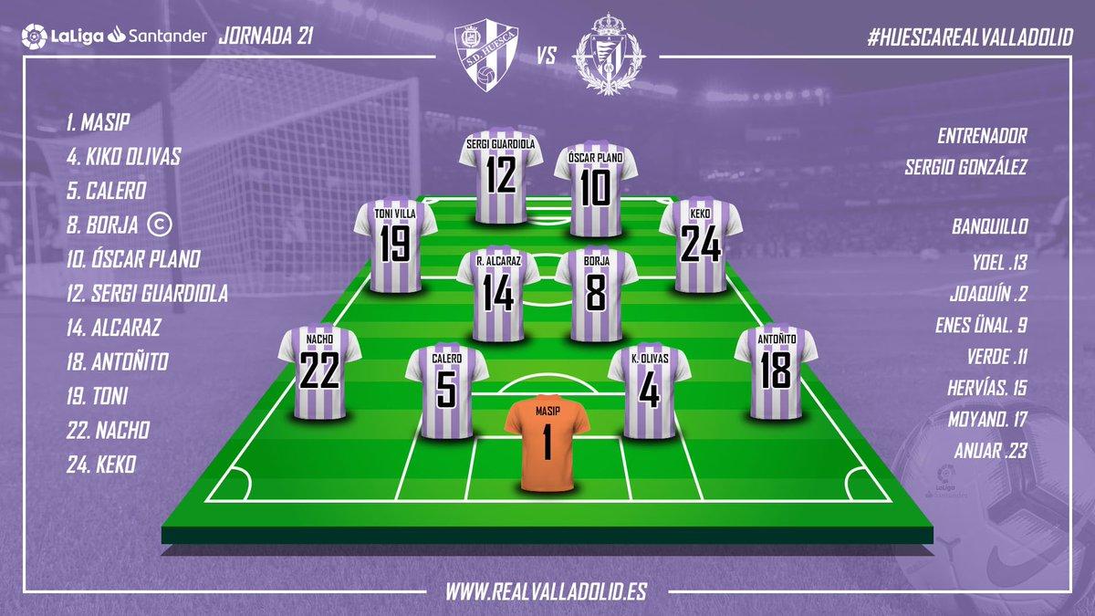 S.D. Huesca - Real Valladolid. Viernes 1 de Febrero. 21:00 Alineacion-vs-Huesca
