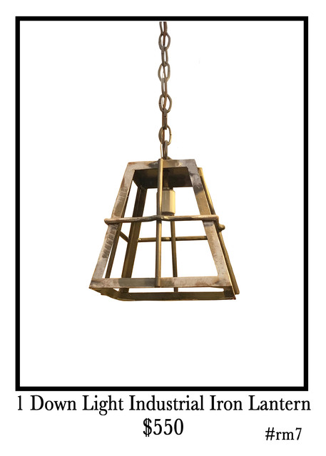 Metal Industrial Iron Lantern