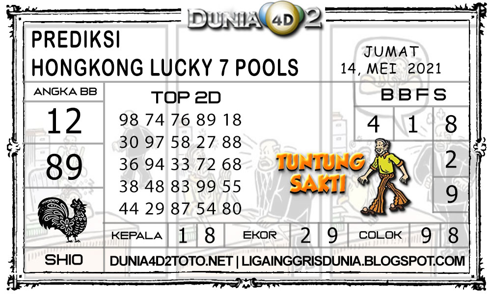 Prediksi Togel HONGKONG LUCKY7 DUNIA4D2 14 MEI 2021