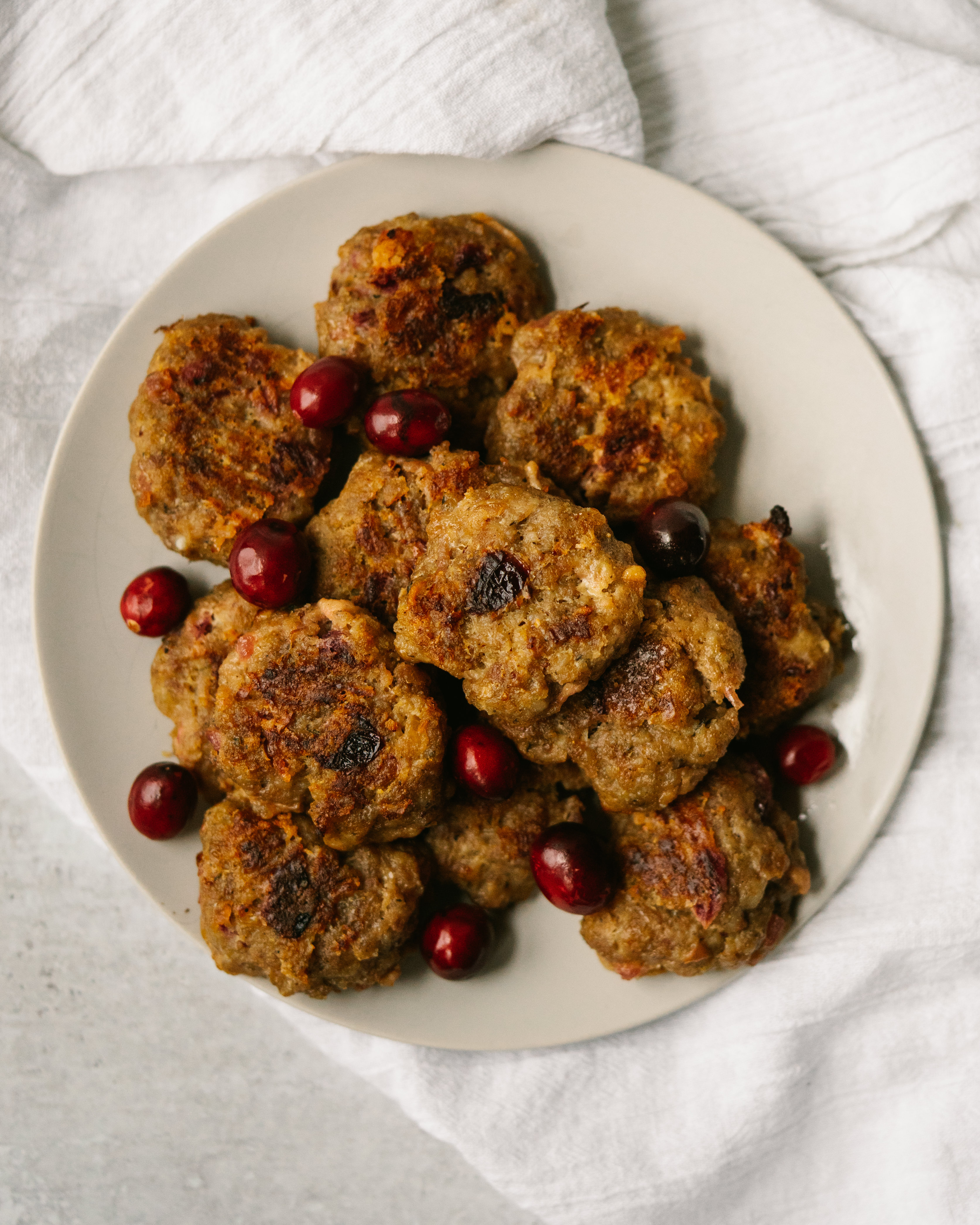Cranberry Thyme Baked Sausage Patties