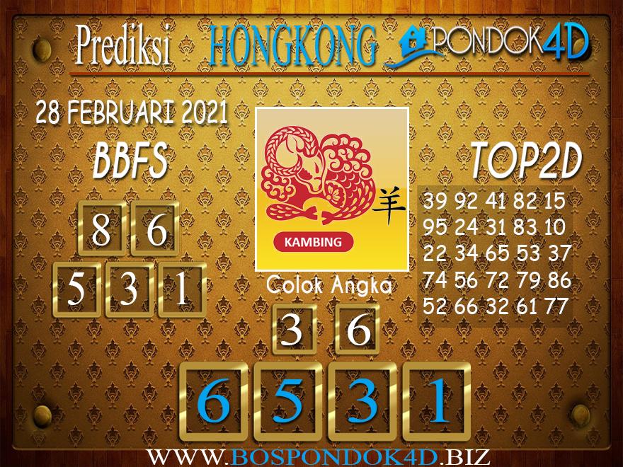 Prediksi Togel HONGKONG PONDOK4D 28 FEBRUARI 2021