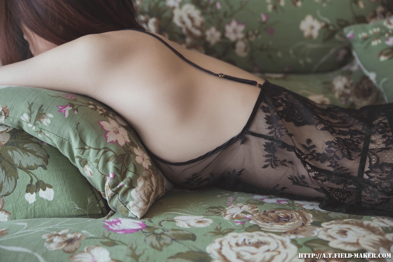 Tsubaki Album vol.006 Sheer lace pajamas 怠いお昼のパジャマ少女 sexy-nightdress-15