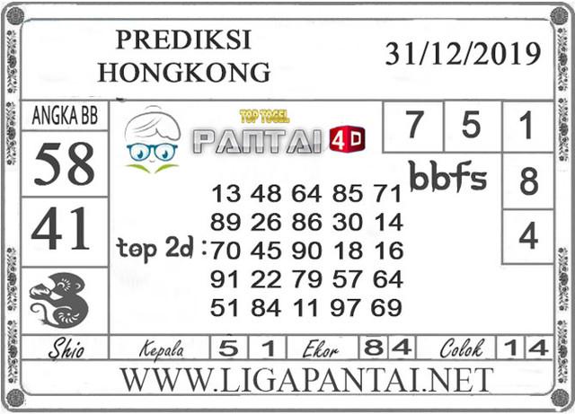 PREDIKSI TOGEL HONGKONG PANTAI4D 31 DESEMBER 2019