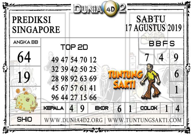 """Prediksi Togel """"SINGAPORE"""" DUNIA4D2 17 AGUSTUS 2019"""
