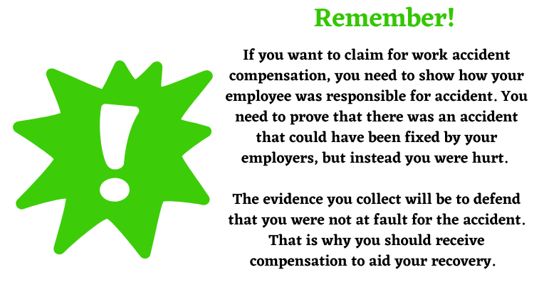 top tip about work accident compensation