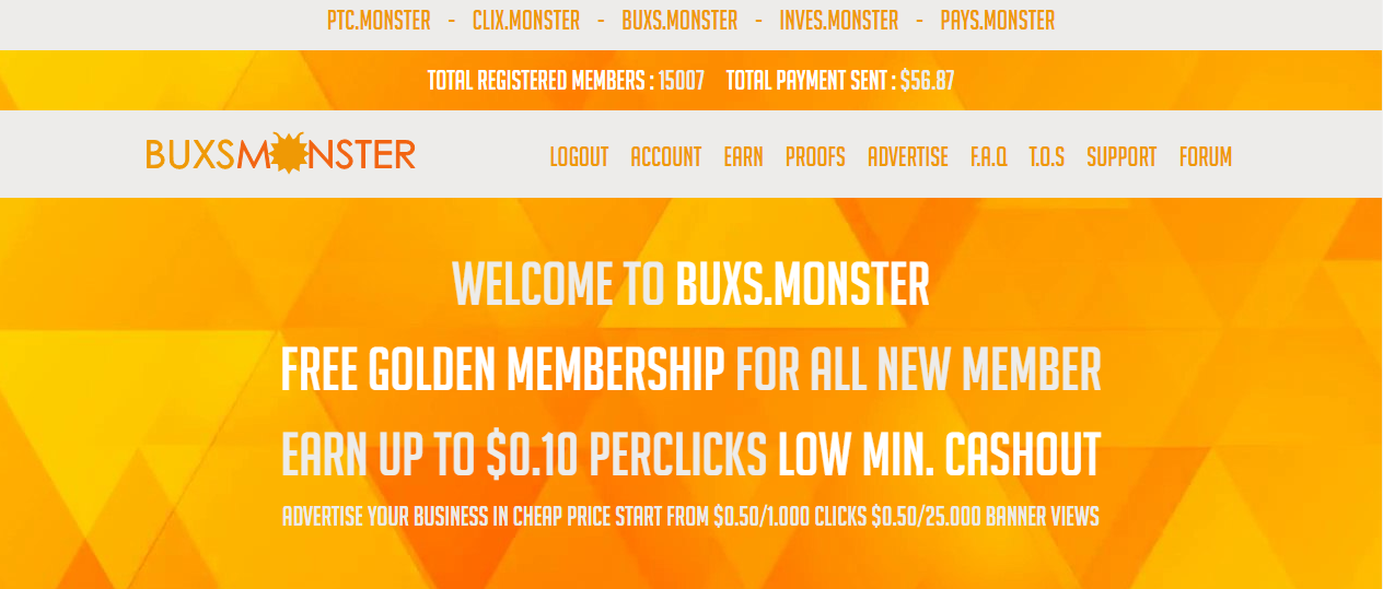 Review of Bux.monster Is ?Bux.monster scam or paying?