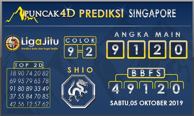 PREDIKSI TOGEL SINGAPORE PUNCAK4D 05 OKTOBER 2019