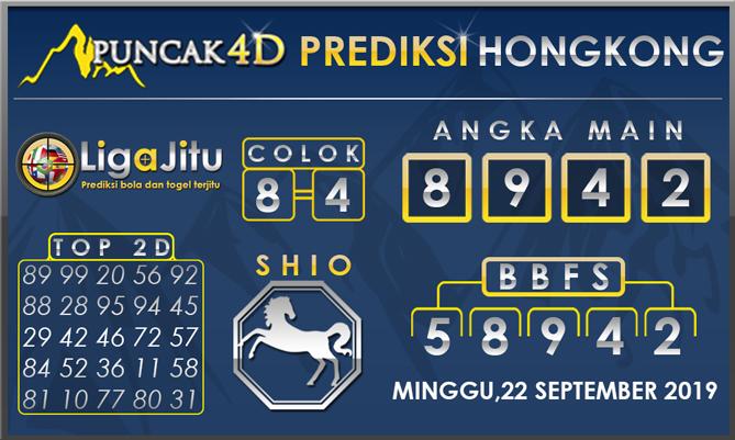 PREDIKSI TOGEL HONGKONG PUNCAK4D 22 SEPTEMBER 2019
