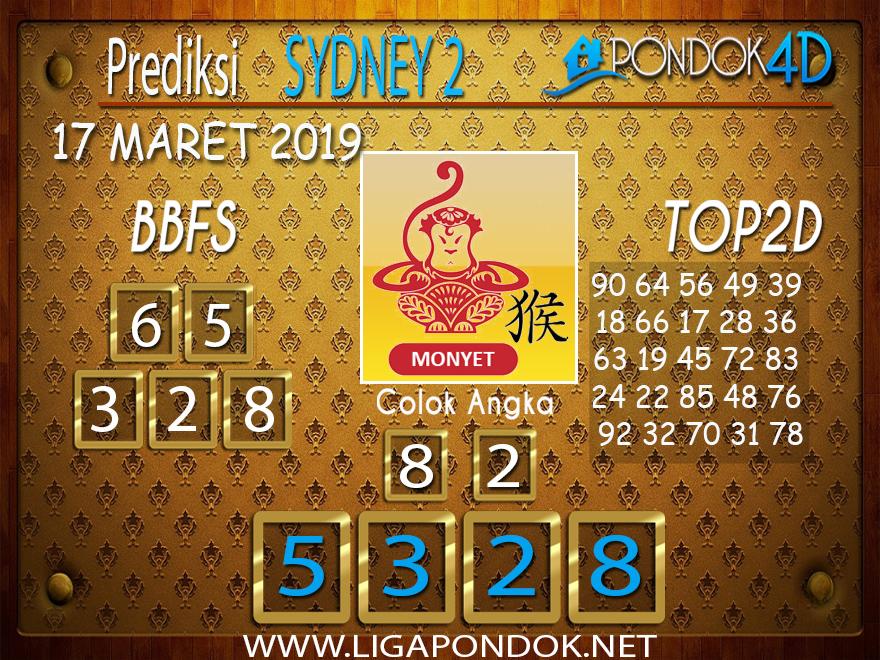 Prediksi Togel SYDNEY 2 PONDOK4D 17 MARET 2019